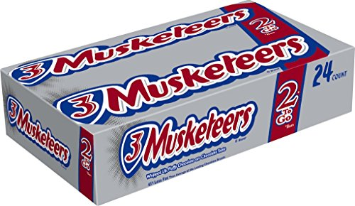 3 Musketeers Chocolate Candy (3 MUSKETEERS Chocolate Sharing Size Candy Bars 3.28-Ounce Bar 24-Count)