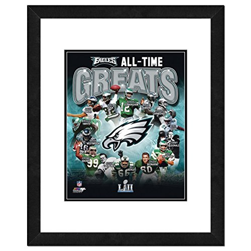 NFL Philadelphia Eagles Men's All Time Greats Framed Photo, One Size, Multicolor