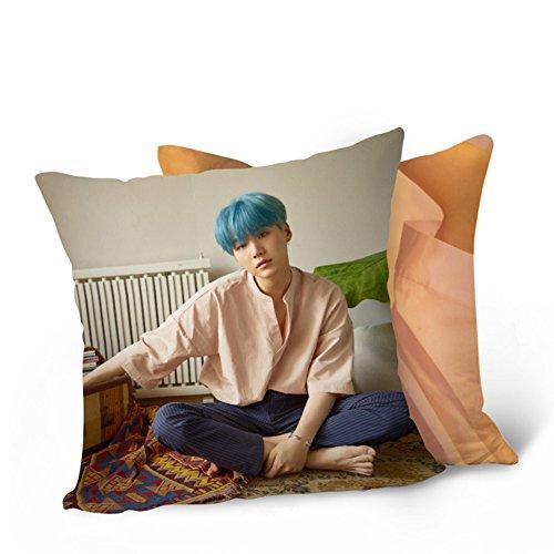 (NUOFENG Kpop BTS Member Portrait Throw Pillow Bangtan Boys Square Pillow Cushion 15.7 (H04))