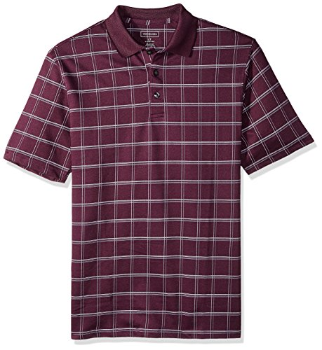 Van Heusen Men's Big and Tall Short Sleeve Windowpane Polo Shirt, Winter Bloom, 3X-Large ()