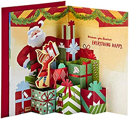 Amazon.com : Hallmark Paper Wonder Pop Up Christmas Card (Santa's Workshop  with Pop Up Presents) : Office Products
