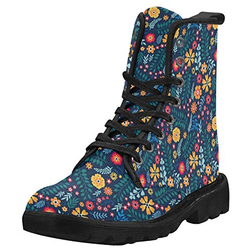 InterestPrint Womens Boots Unique Designed Comfort Lace Up Boots Multi 2 SwsYg