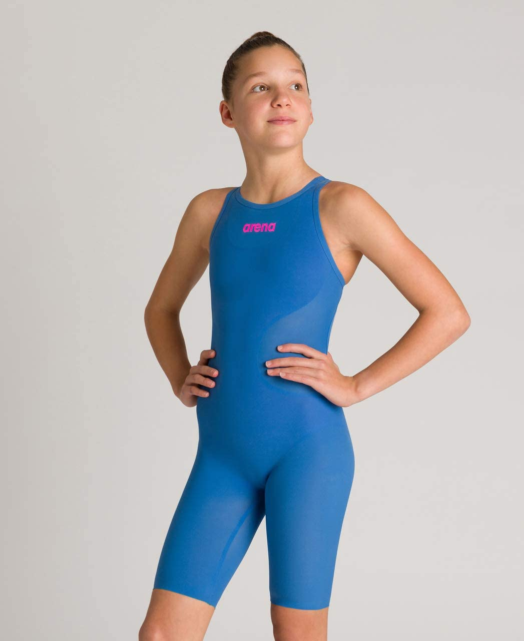 Arena Powerskin R-EVO One Girls Open Back Youth Racing Swimsuit