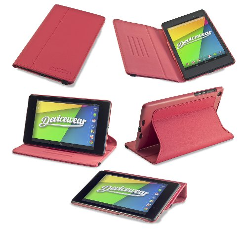 Devicewear Ridge Google Nexus 7 Case for the Second Generation (Version 2, 2013 model) in Red - Inch 7 Tablet Case Nexus