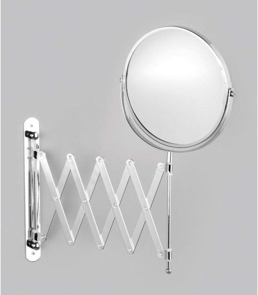 9-45 x 18,5 x 37 Specchio da Parete Diametro 17 cm Superficie cromata Zeller 18411 allungabile