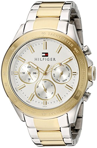 Tommy Hilfiger Men's 1791226 Hudson Analog Display Japanese Quartz Two Tone Watch