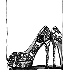 "b6ce5ca4862 Amazon.com: Oh La La Louboutin Fashion Illustration 8"" x 10"" Wall ..."