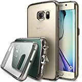 Ringke [FUSION] Compatible with Galaxy S6 Edge Case - **All New Dust Free Cap & Drop Protection** [SMOKE BLACK] Premium Crystal Clear Back Shock Absorption Bumper Hard Case with Free Back Film for Galaxy S6 Edge