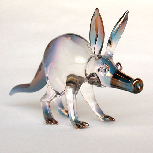 Hand Blown Glass Aardvark Figurine