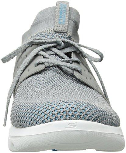 Skechers Performance Women's Go Walk Evolution Ultra-Turbo Sneaker,Gray/Blue,8.5 M US by Skechers (Image #4)