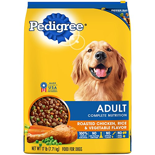 PEDIGREE Adult Complete Nutrition Roasted Chicken, Rice & Vegetable Flavor Dry Dog Food;  100% Complete and Balanced, for wellness and whole body health