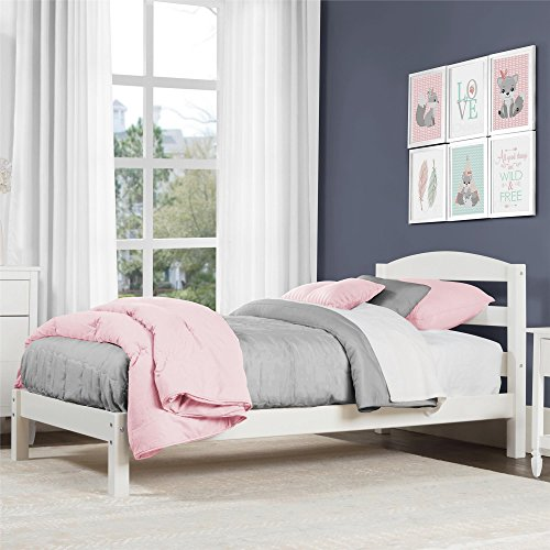 Dorel Living Braylon Twin Bed, White