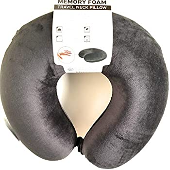 Amazoncom Sharper Image Memory Foam Travel Neck Pillow Black Home