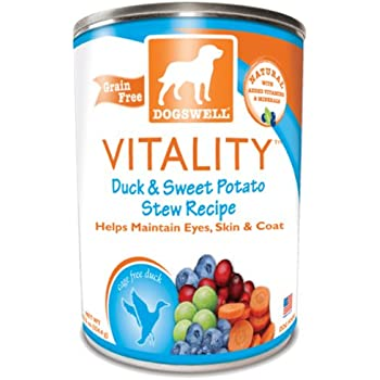 Dogswell Vitality Canned Dog Food Case Duck