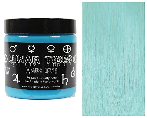 Lunar Tides Hair Dye - Sea Witch Pastel Turquoise Semi-Permanent Vegan Hair Color (4 fl oz / 118 ml)