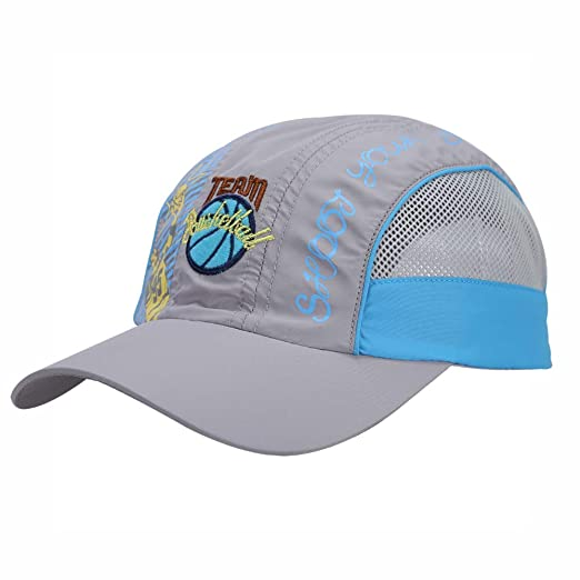 709bf50ef99 Quick Dry Kids Baseball Cap Boys Girls Lightweight Breathable Mesh UV  Protection Sun Hat