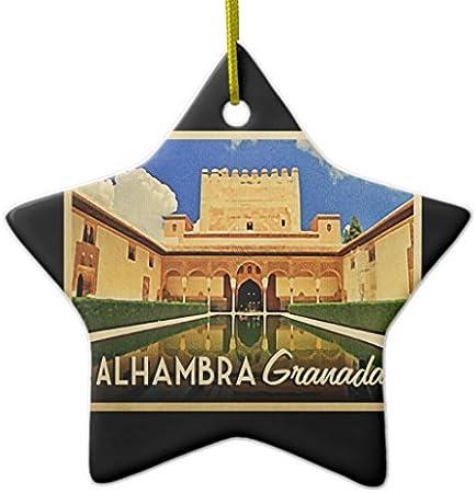 Funny de Navidad para niños Alhambra Granada España Ornament Star vacaciones adornos árbol de Navidad regalos de Navidad: Amazon.es: Hogar