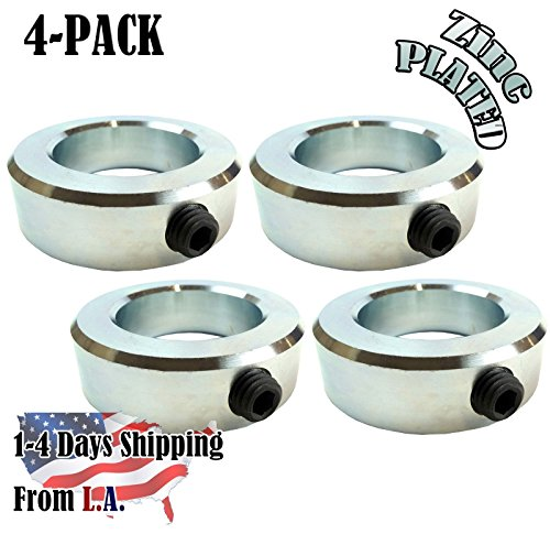 eel Zinc Plated Shaft Collars Set Screw Style (4 PCS) (1.5 Inch Shaft)