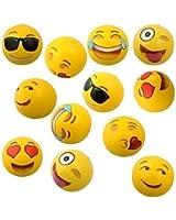 "Emoji Universe: 12"" Emoji Inflatable Beach Balls, 12-Pack"