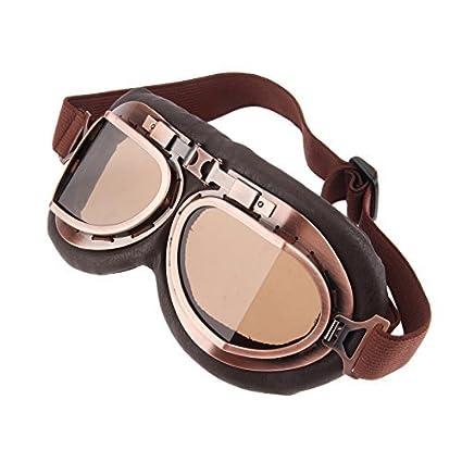 Casco Steam Punk Vintage Gafas de sol Gafas de protección para Outdoor Sport Motocross: Amazon.es: Coche y moto