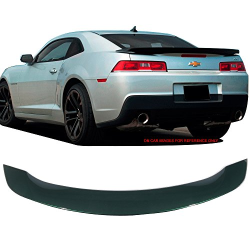 Pre-painted Trunk Spoiler Fits 2014-2015 Chevy Camaro   Factory Style Low Blade Style ABS #WA136X Unripened Green Metallic Rear Deck Lip Wing Bodykits by IKON MOTORSPORTS