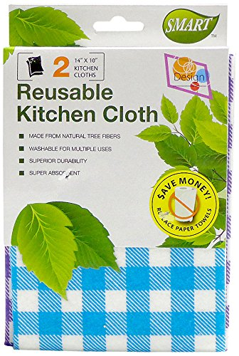 - Smart 10052 Reusable Kitchen Cloth, Blue and Purple, 2-Pack
