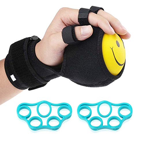 LJXiioo Grip Strength Ball Finger Device Training Equipment Anti-Spasticity Ball Splint Finger Orthosis