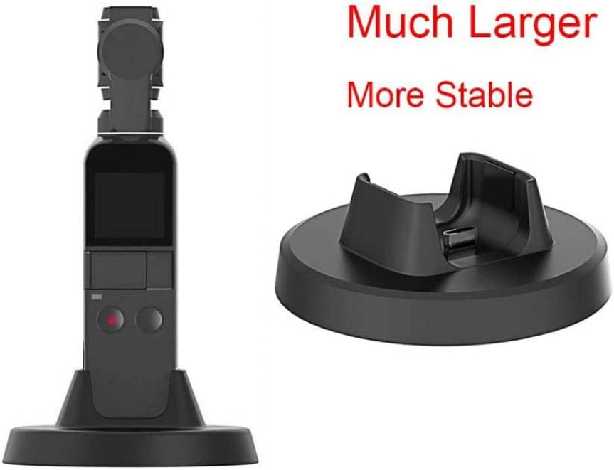 Black aXXcssqw9bCamera Charger Base Mount Holder Charging Dock Accessories for DJI OSMO Pocket