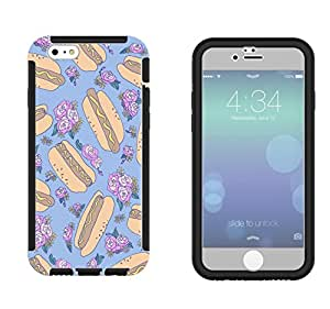 1213 - Roses Yum Multi HotDog Design iphone 6 plus S 5.5'' Full Body CASE With Build in Screen Protector Rubber Defender Shockproof Heavy Duty Builders Protective Cover