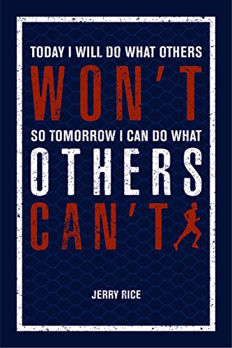 JSC451 Today I Will Do What Others Won't So Tomorrow I Can Do What Others Can't Poster Words Running Figure | 18-Inches By 12-Inches | Motivational Inspirational | Premium 100lb Gloss Poster Paper