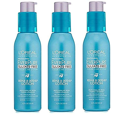 L'Oreal Paris Hair Care Expertise Everpure Repair and Defend Leave in Treatment, 4.2 Ounce (Pack of 3)
