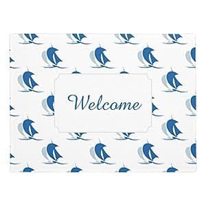 """ailovyo yate con velas patrón de goma antideslizante entrada camino al aire libre decoración de interior alfombra Doormats (23.6x15.7"""")"""