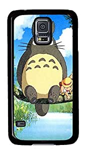 S5 Case, Galaxy S5 Case, Samsung Galaxy S5 Case - Hard PC Protective Ghibli My Neighbo Cute Case Black Cover Heavy Duty Protection Shock-Absorption / Impact Resistant Slim Case for Galaxy S5 / Galaxy SV / Galaxy S V / Galaxy i9600