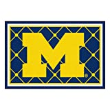 FANMATS NCAA University of Michigan Wolverines Nylon Face 5X8 Plush Rug