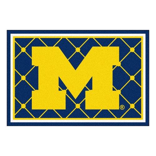 - FANMATS NCAA University of Michigan Wolverines Nylon Face 5X8 Plush Rug