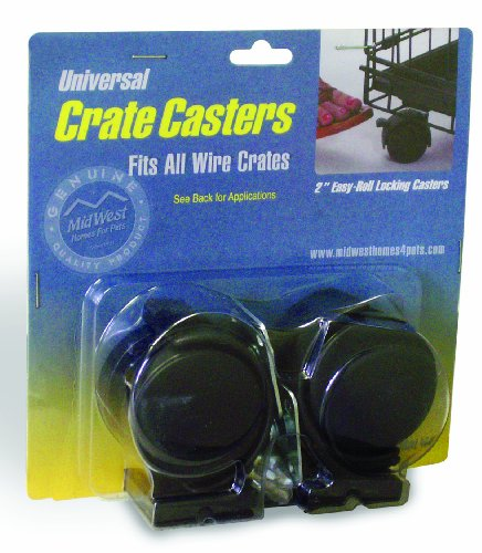 (MidWest Universal Crate Casters (2 Pack))