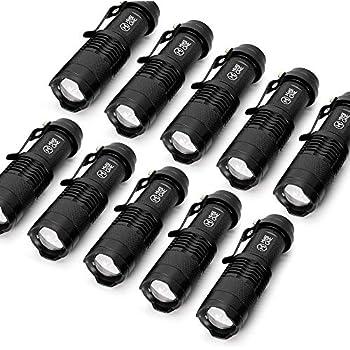 10 pack small edc led flashlight 7w 350 lumen tactical zoomable 1.5 Volt LED 10 pack small edc led flashlight 7w 350 lumen tactical zoomable pocket torch portable flashlights bulk