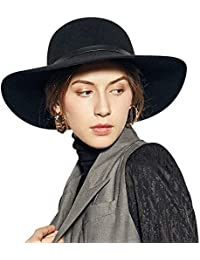 588ab81c566 Wide Brimmed 100% Wool Felt Floppy Hat Vintage Women Warm Triby Hats