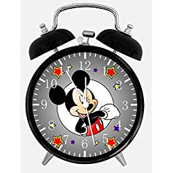 Mickey Mouse Black Alarm Desk Clock 4 Room Decor E110 Nice for Gifts