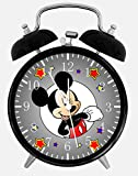 Disney Mickey Mouse Alarm Desk Clock 3.75'' Home or Office Decor E110 Nice For Gift