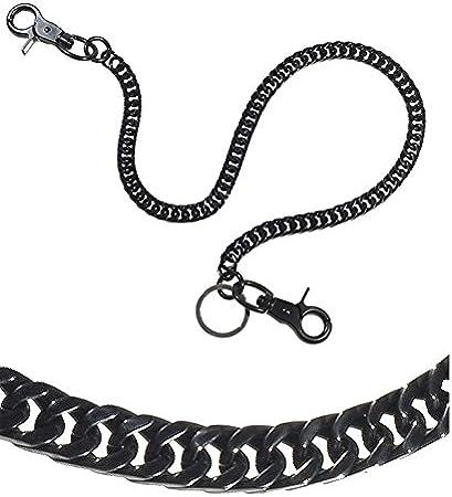 17 , Black Ruth/&Boaz Angular chain Stainless Steel Key Chain Wallet Chain