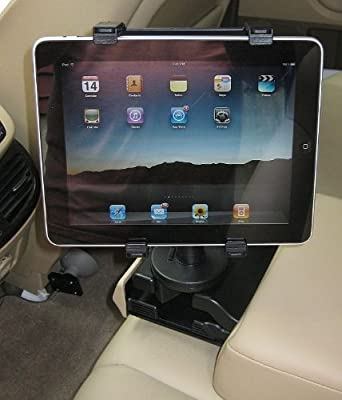 Car Cup Holder Mount with Expandable Cradle for Apple iPad, Apple iPad 2, Samsung Galaxy Tab, eLocity A7, Blackberry Playbook, Motorola Xoom, HP Slate, Viewsonic gTablet ViewPad, SuperPad and Others from MFX2