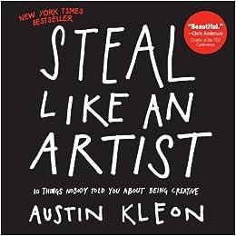 amazon steal like an artist austin kleon creativity genius