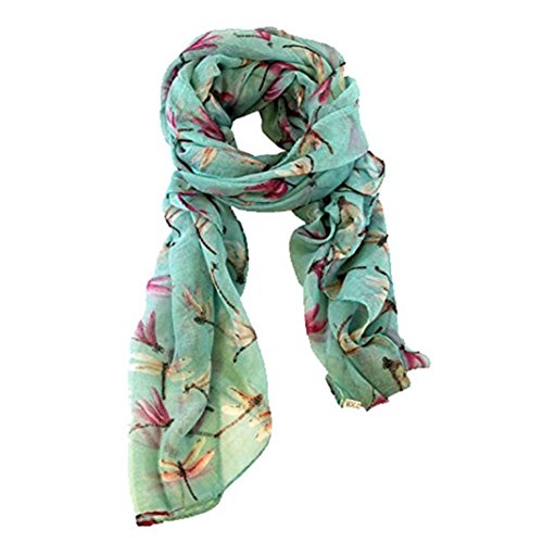 g Cute Dragonfly Print Scarf Wraps Shawl Soft Scarves ()