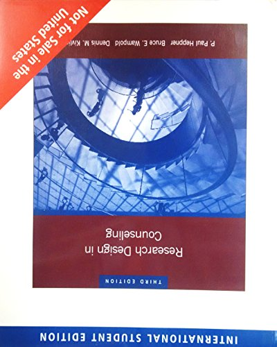 Research Design In Counseling, 3 Edition