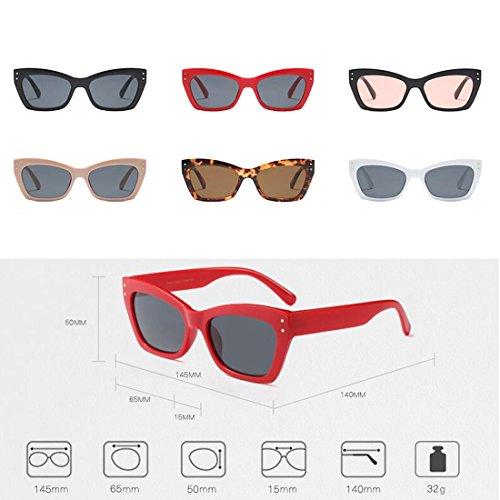 Cat Fashion de Patrón Leopardo Sunglasses women rectangular Sunglass Men Té Completo Inlefen marco Eye Vintage qEwtCZWPnx