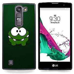 Cute Green Monster Caja protectora de pl??stico duro Dise?¡Àado King Case For LG Volt 2 / LG G4 Mini (G4c)