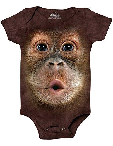 The Mountain Bf Baby Orangutan Onesie Infant Baby Onesie, Brown, 6 Month Old Baby