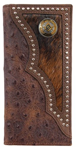 Mason Custom hide Long print Small and Ostrich wallet Texas with inlay hair OqqwEBH