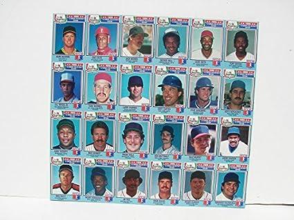 1988 Chef Boyardee Complete Baseball Card Set Uncut Sheet Mark